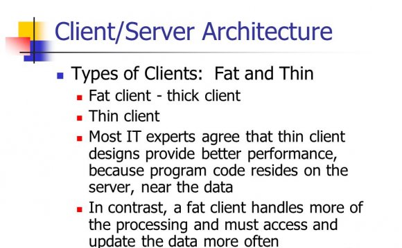 25 Client/Server Architecture