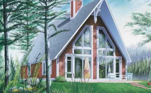 A-Frame house plans appear to