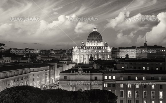 Buildings of Rome with Vatican