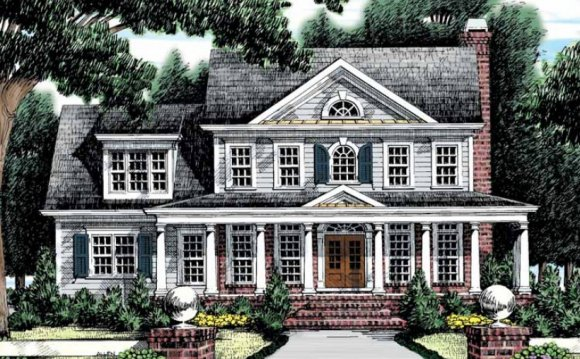 Colonial house plans reflect