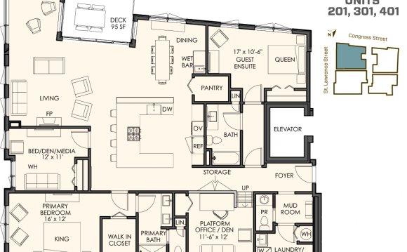 3 bedrooms plus a den 2 1/2
