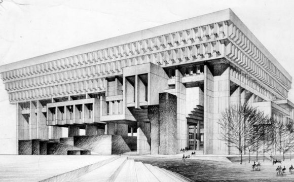 An architectural rendering of