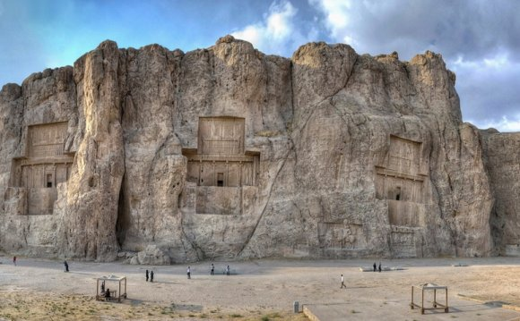 Panoramic view of the Naqsh-e