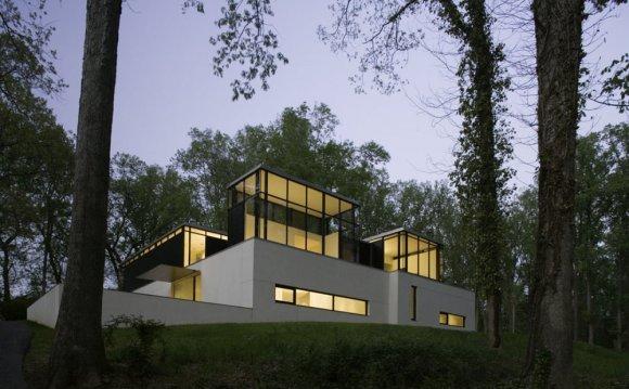 Black White Home in Bethesda
