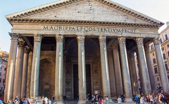 Pantheon columns in Rome