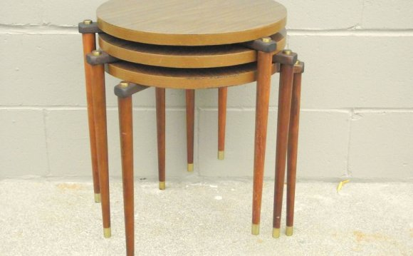 3 Mid Century Stacking Tables