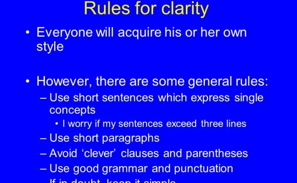 Rules for clarity Everyone