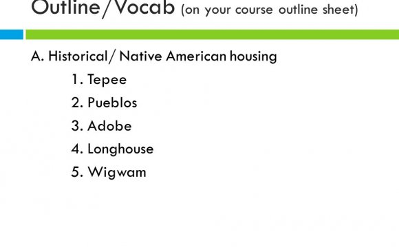 Outline/Vocab (on your course