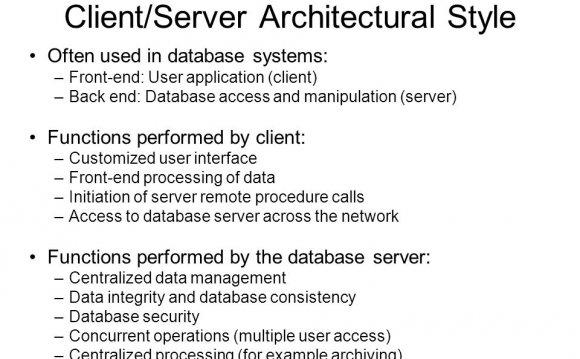 Client/Server Architectural