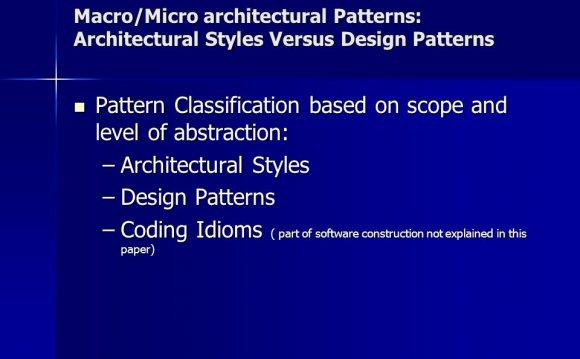 Macro/Micro architectural