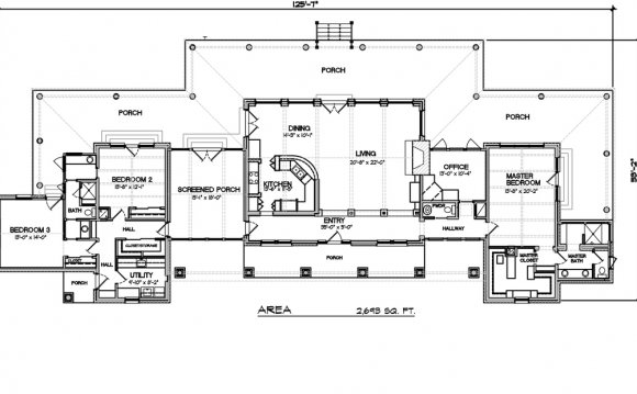 Ranch Style House Plan - 3