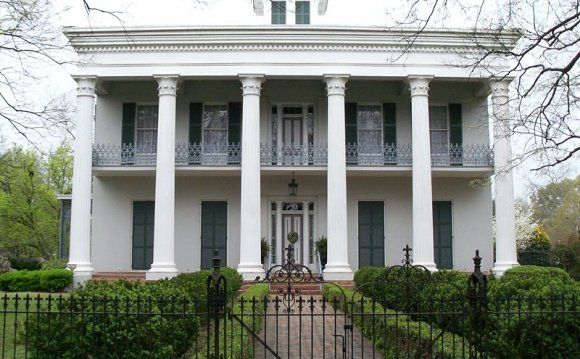 This Greek Revival mansion was