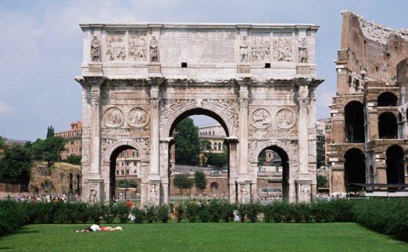 Arch of constantine, emperor