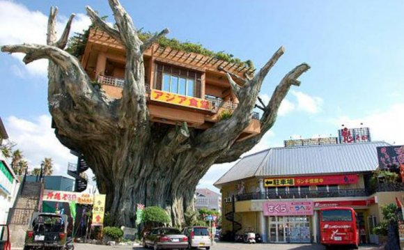 This Japanese tree house diner