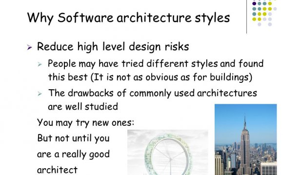 Why Software architecture