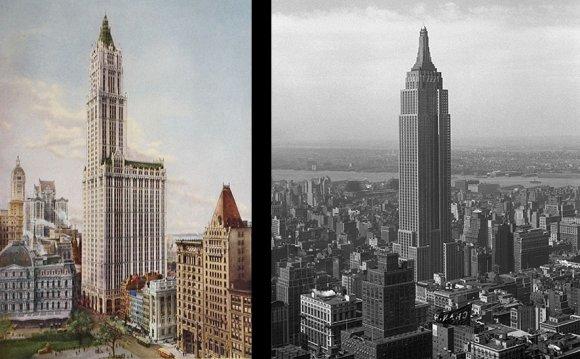 Skyline of New York in 1912