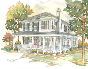 1641 0012 Corner the Market: Southern Living House Plan