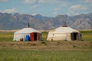 A yurt is a portable house used in Mongolia. Getty Images