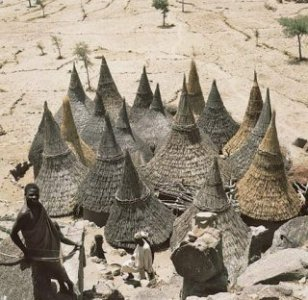 African architecture: conical roofs in Cameroon [Credit: Rene Gardi]