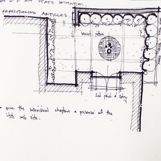 Architectural Sketch partial site plan line weight