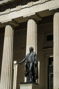 Doric Columns Federal Hall New York City