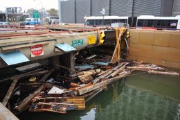 Flooded Battery Park Underpass in wake of Hurricane Sandy