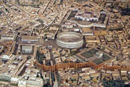 Model of Rome: click for an enlargement, and description.