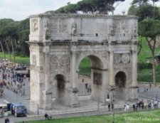 Most Famous Man-Made Arches: Arch of Constantine,  Rome