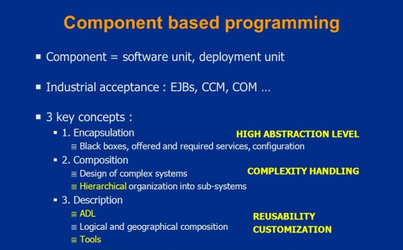 Component based programming