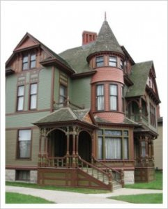 Queen Anne Style - Hume House, Muskegon, MI