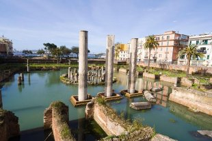 Roman Temple in Pozzuoli, Bay of Naples, Italy
