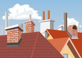 roofing and chimneys illustration