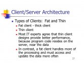 Client Server Architecture types