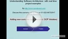 2: Software Architecture with real time scenario - Add new