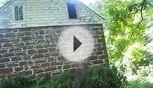 abandoned 1776 dutch colonial sandstone smoke house and