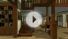 Architectural walk through of Craftsman house