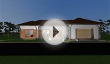 Bungalow design. 3d floor plans and elevations. 200 square