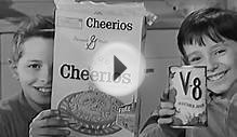 Cheerios Cereal Commercial: Space Age Moon Race & V-8 1960