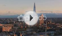 clip 59309792: Famous Shard building at River Thames London