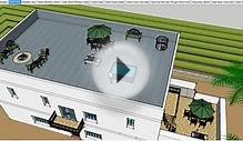 Google Sketchup CAD Architecure - Strawbale Mission Style