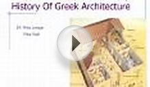 History Of Greek Architecture
