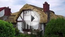 Interesting Houses-Curved Roof House with Quaint Old Style
