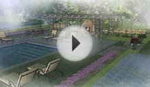 Landscape & Swimming Pool Design Plan & 3D Renderings in