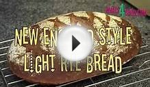 New England Style Light Rye Bread with Sour Cream. How to