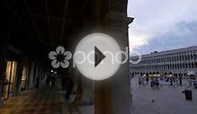 Piazza San Marco With Building With Arches In Venice Stock
