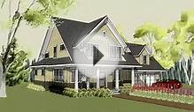 Simple craftsman home plan with cottage exterior and front