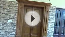 Typical Kerala Style front Door for house