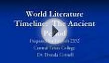 World Literature Timeline: The Ancient Period