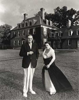 Wealthy Archibald and Molly McCrea, pictured in 1936, had the means to indulge themselves in all things colonial, including the restoration of the sprawling Carter's Grove mansion.